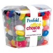 LL3154s Assorted Colour Mini Jelly Beans in Clear