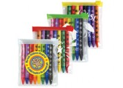 LL198 Assorted Colour Crayons in PVC Zipper Pouch